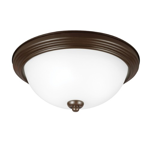 Sea Gull Lighting Sea Gull Lighting Ceiling Flush Mount Bell Metal Bronze Flushmount Light 79163BLE-827