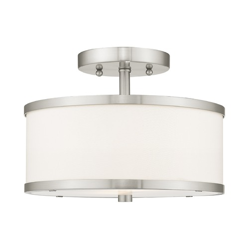 Livex Lighting Livex Lighting Park Ridge Brushed Nickel Semi-Flushmount Light 6366-91