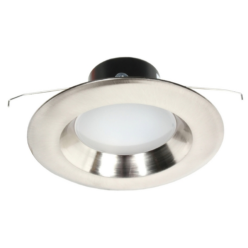 Recesso Lighting by Dolan Designs LED Retrofit Trim with Satin Nickel Reflector for 5 or 6 Inch Recessed Cans 3000K 1100 Lumens 10904-09