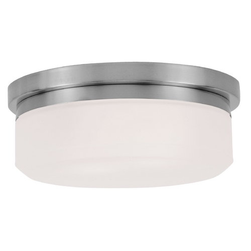 Livex Lighting Livex Lighting Isis Brushed Nickel Flushmount Light 7390-91
