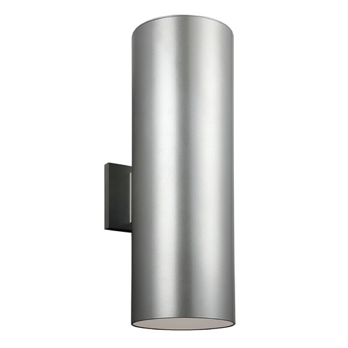 Sea Gull Lighting Sea Gull Lighting Outdoor Bullets Painted Brushed Nickel Outdoor Wall Light 8313902-753