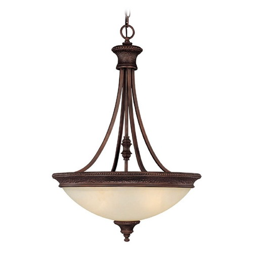 Capital Lighting Capital Lighting Hill House Burnished Bronze Pendant Light with Bowl / Dome Shade 3564BB