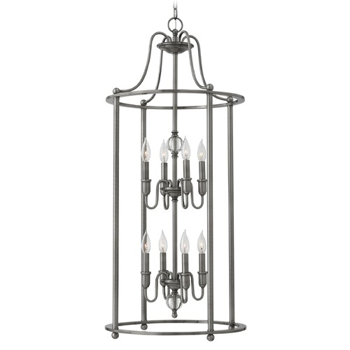 Hinkley Lighting Hinkley Lighting Elaine Polished Antique Nickel Chandelier 4358PL