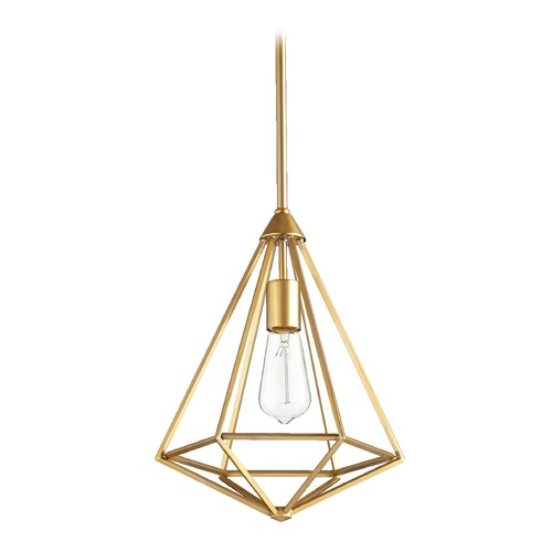 Quorum Lighting Quorum Lighting Bennett Aged Brass Pendant Light 3311-80