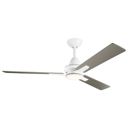 Kichler Lighting Kosmus Matte White LED 52-Inch Ceiling Fan with Light 3000K 300031MWH