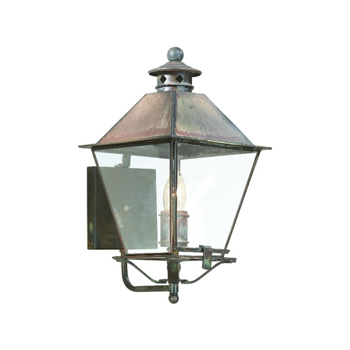 Troy Lighting Outdoor Wall Light with Clear Glass in Natural Rust Finish BCD9131NR