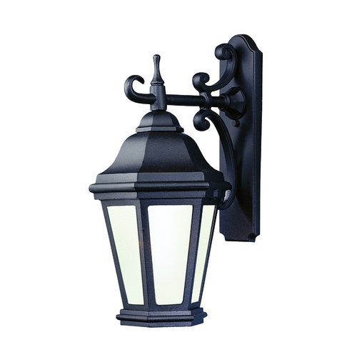 Troy Lighting Outdoor Wall Light with Clear Glass in Matte Black Finish BFCD6891MB