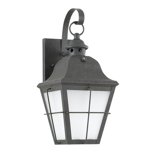 Sea Gull Lighting Outdoor Wall Light with White Glass in Oxidized Bronze Finish 89062BLE-46