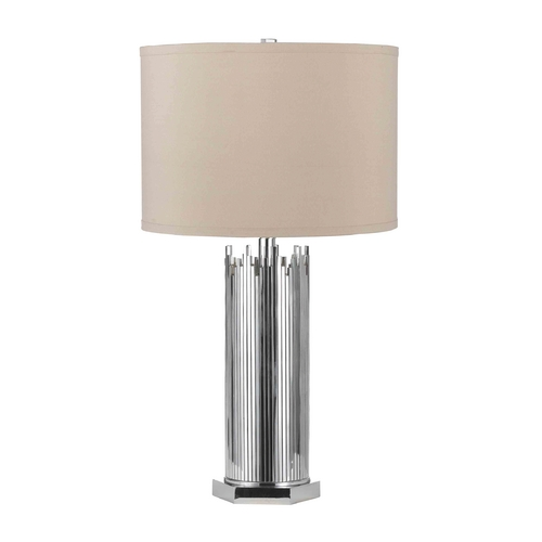 AF Lighting Modern Table Lamp with Beige / Cream Shade in Chrome Finish 8303-TL