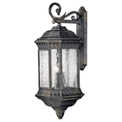 Hinkley Lighting Outdoor Wall Light with Clear Glass in Black Granite Finish 1726BG