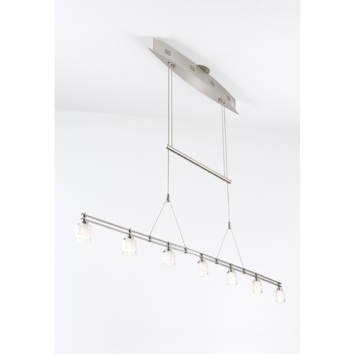 Holtkoetter Lighting Holtkoetter Modern Low Voltage Drum Pendant Light with White Glass in Satin Nickel Finish 5517 SN G5010