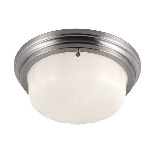Feiss Lighting Feiss Lighting Portia Brushed Steel Flushmount Light FM383BS