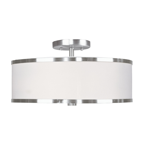 Livex Lighting Livex Lighting Park Ridge Brushed Nickel Semi-Flushmount Light 6368-91