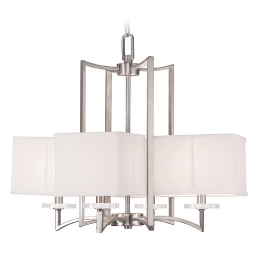 Livex Lighting Livex Lighting Woodland Park Brushed Nickel Chandelier 50705-91