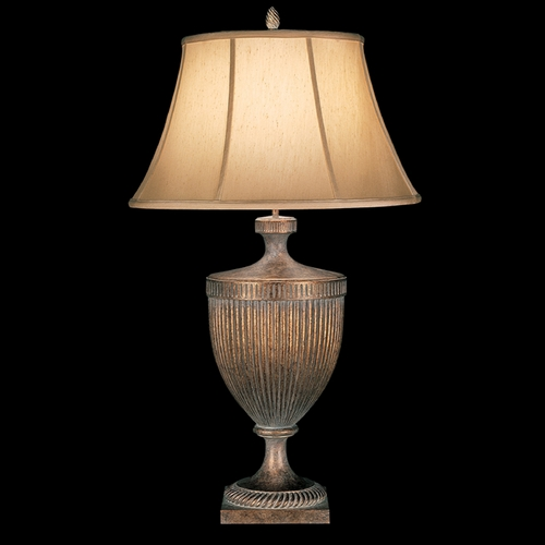 Fine Art Lamps Fine Art Lamps Verona Antique Veronese Gold Table Lamp with Bell Shade 179310ST