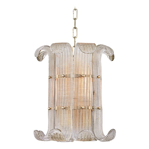 Hudson Valley Lighting Hudson Valley Lighting Brasher Aged Brass Pendant Light 2904-AGB