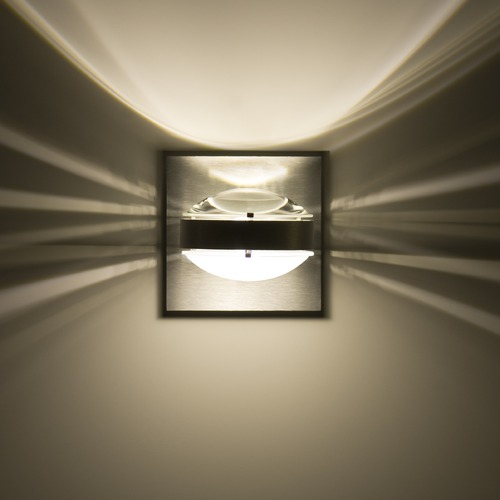 Besa Lighting Besa Lighting Optos Brushed Aluminum LED Sconce OPTOS1W-CLFR-LED-BA