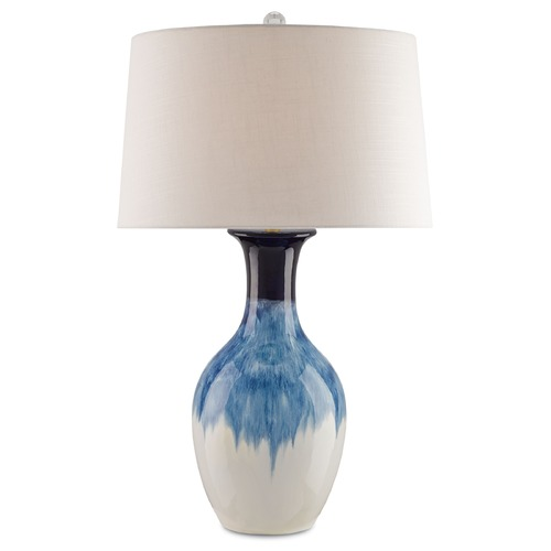 Currey and Company Lighting Currey and Company Fete Cobalt Table Lamp with Drum Shade 6226