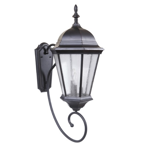 Craftmade Lighting Seeded Glass Outdoor Wall Light Bronze Craftmade Lighting Z2970-88