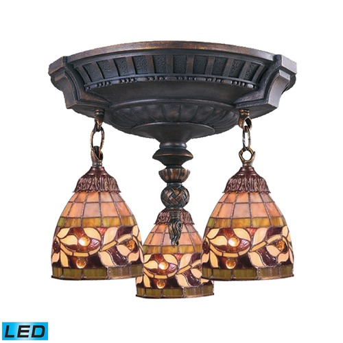 Elk Lighting Elk Lighting Mix-N-Match Aged Walnut LED Semi-Flushmount Light 997-AW-13-LED