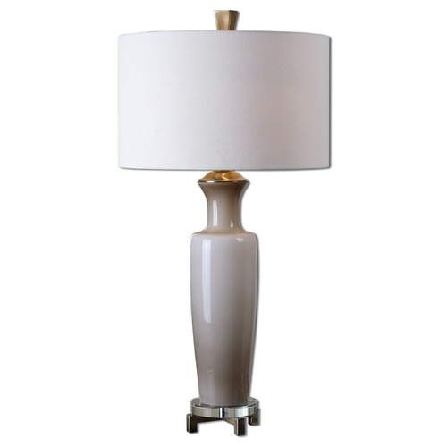 Uttermost Lighting Uttermost Consuela Taupe Gray Glass Table Lamp 27468-1