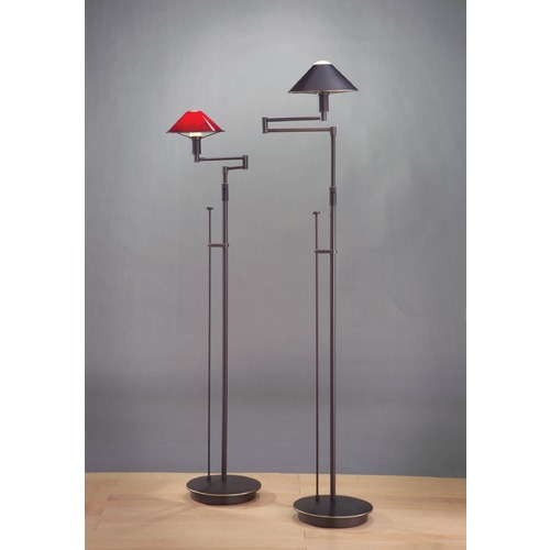 Holtkoetter Lighting Holtkoetter Lighting for the Aging Eye Hand-Brushed Old Bronze Swing Arm Lamp 9424 HBOB
