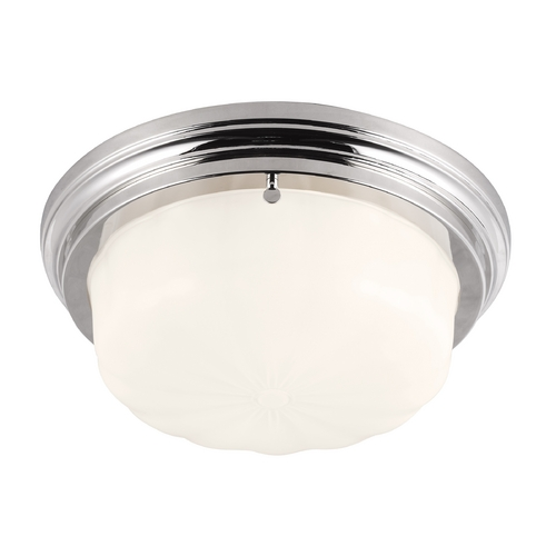 Feiss Lighting Feiss Lighting Portia Polished Nickel Flushmount Light FM383PN