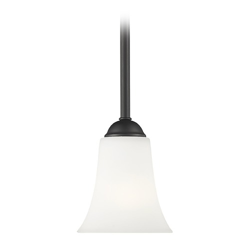 Livex Lighting Livex Lighting Ridgedale Black Mini-Pendant Light with Bell Shade 6460-04
