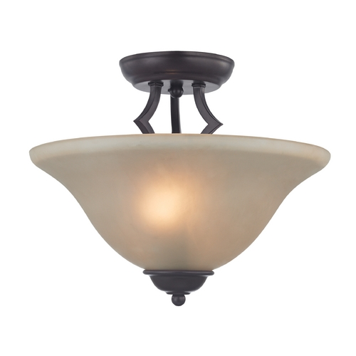 Cornerstone Lighting Cornerstone Lighting Kingston Oil Rubbed Bronze Semi-Flushmount Light 1402SF/10