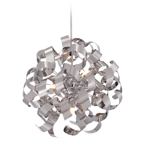 Quoizel Lighting Quoizel Ribbons Polished Chrome Pendant Light RBN2817C