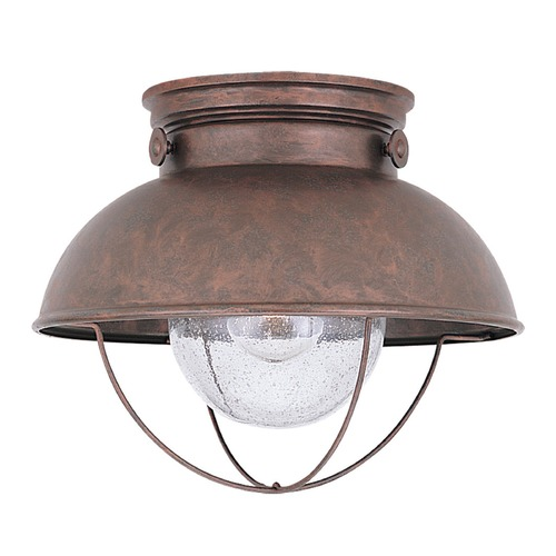 Sea Gull Lighting Seeded LED Close to Ceiling Light Copper Sebring by Sea Gull Lighting 886991S-44