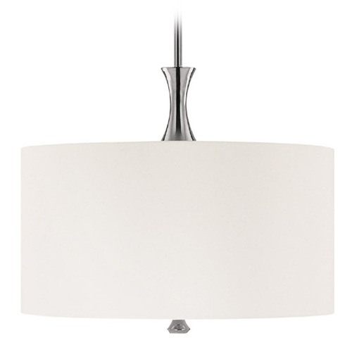 Capital Lighting Capital Lighting Studio Polished Nickel Pendant Light with Drum Shade 3875PN-495