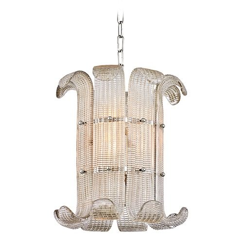 Hudson Valley Lighting Hudson Valley Lighting Brasher Polished Nickel Pendant Light with Drum Shade 2904-PN
