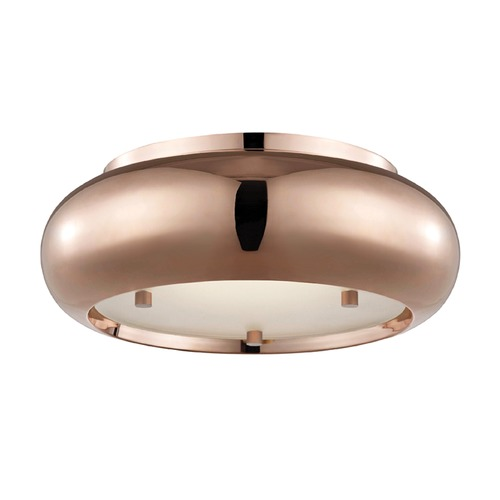 Hudson Valley Lighting Industrial LED Flushmount Light Copper Mitzi Keira by Hudson Valley H123501-POC