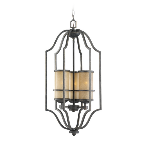 Sea Gull Lighting Nautical Pendant Light in Bronze Finish with Three Lights  51521-845