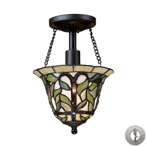 Elk Lighting Elk Lighting Latham Tiffany Bronze Semi-Flushmount Light 70114-1-LA
