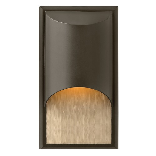 Hinkley Modern Outdoor Wall Light with Etched in Bronze Finish 1830BZ