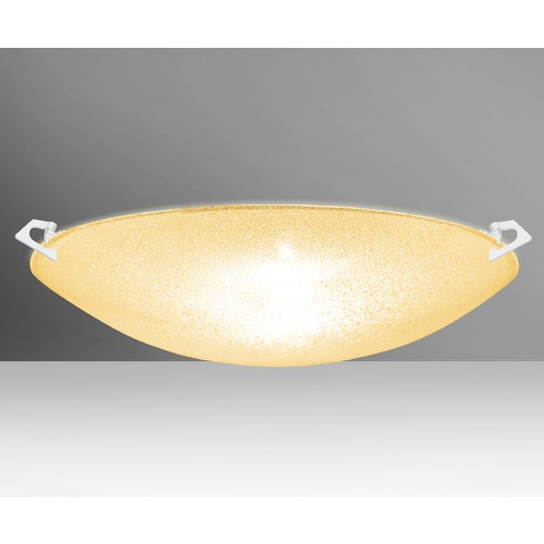 Besa Lighting Besa Lighting Sonya White Flushmount Light 8419GD-WH