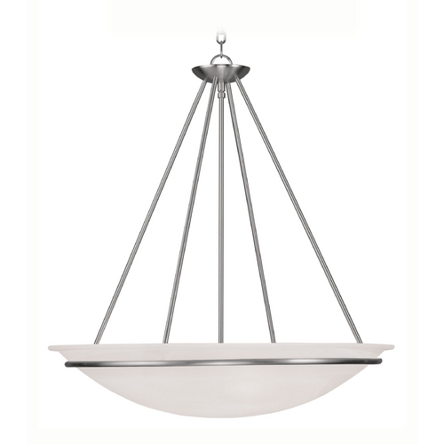 Livex Lighting Livex Lighting Newburgh Brushed Nickel Pendant Light 4828-91