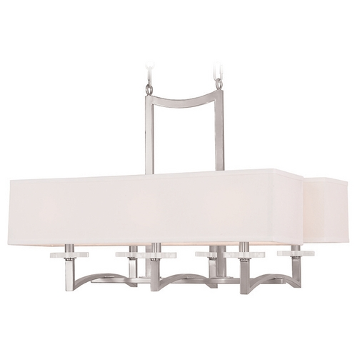 Livex Lighting Livex Lighting Woodland Park Brushed Nickel Chandelier 50706-91