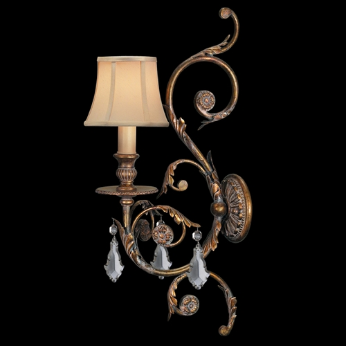 Fine Art Lamps Fine Art Lamps Verona Antique Veronese Gold Sconce 204750ST