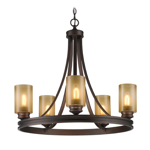 Golden Lighting Golden Lighting Hidalgo Sovereign Bronze Chandelier 1051-5 SBZ