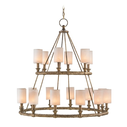 Currey and Company Lighting Currey and Company Westbourne Textured Gold Chandelier 9844