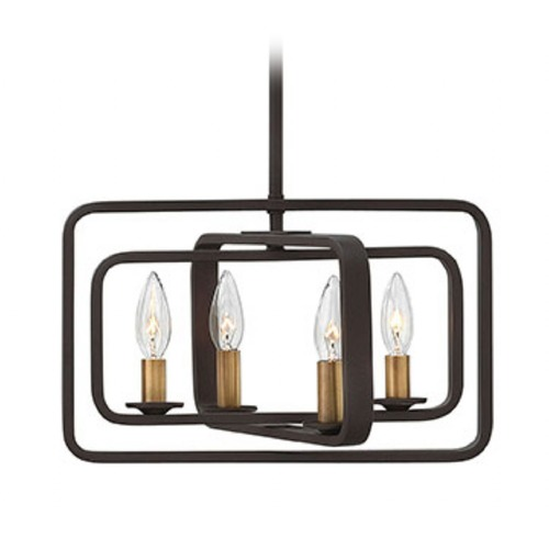 Hinkley Lighting Hinkley Lighting Quentin Buckeye Bronze Pendant Light 4811KZ