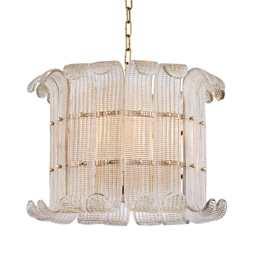 Hudson Valley Lighting Hudson Valley Lighting Brasher Aged Brass Pendant Light 2908-AGB