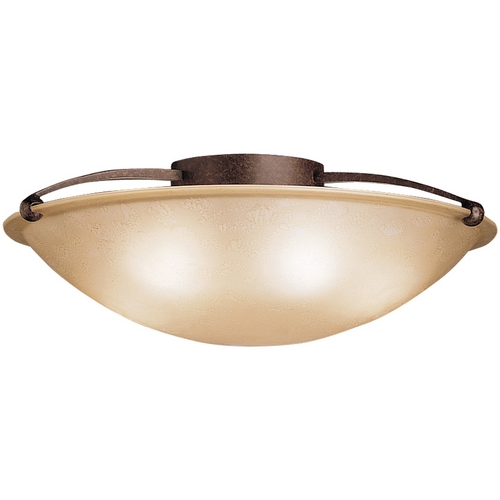 Kichler Lighting Kichler Modern Flushmount Light with Clear Glass in Bronze Finish 8407TZ