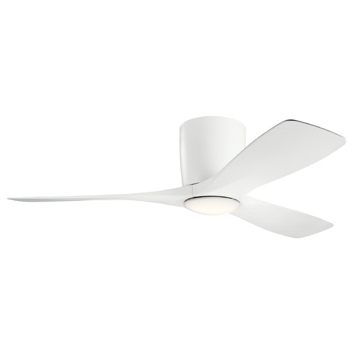 Kichler Lighting Volos Matte White LED 48-Inch Ceiling Fan with Light 3000K 300032MWH