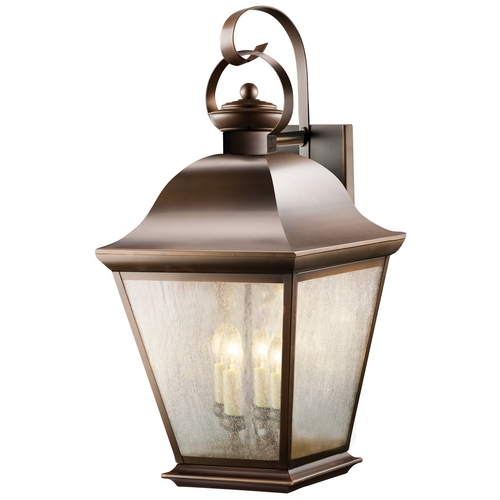 Kichler Lighting Kichler Outdoor Wall Light with Clear Glass in Olde Bronze Finish 9704OZ