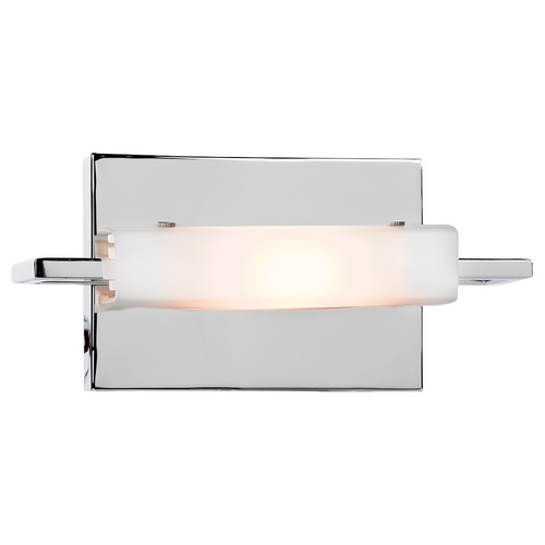 Access Lighting Modern Bathroom Light with White Glass in Chrome Finish 62251-CH/OPL