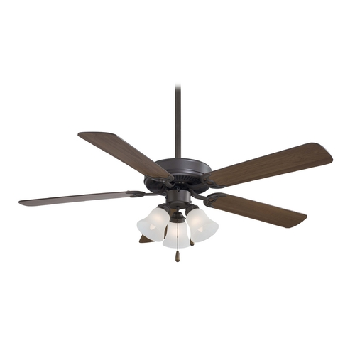 Minka Aire Ceiling Fan with Light with White Glass F647-ORB